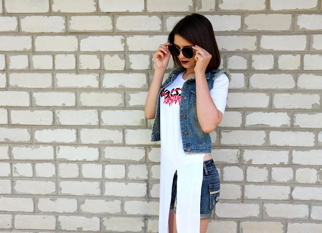 Zaful Asymmetrical Slit T-Shirt