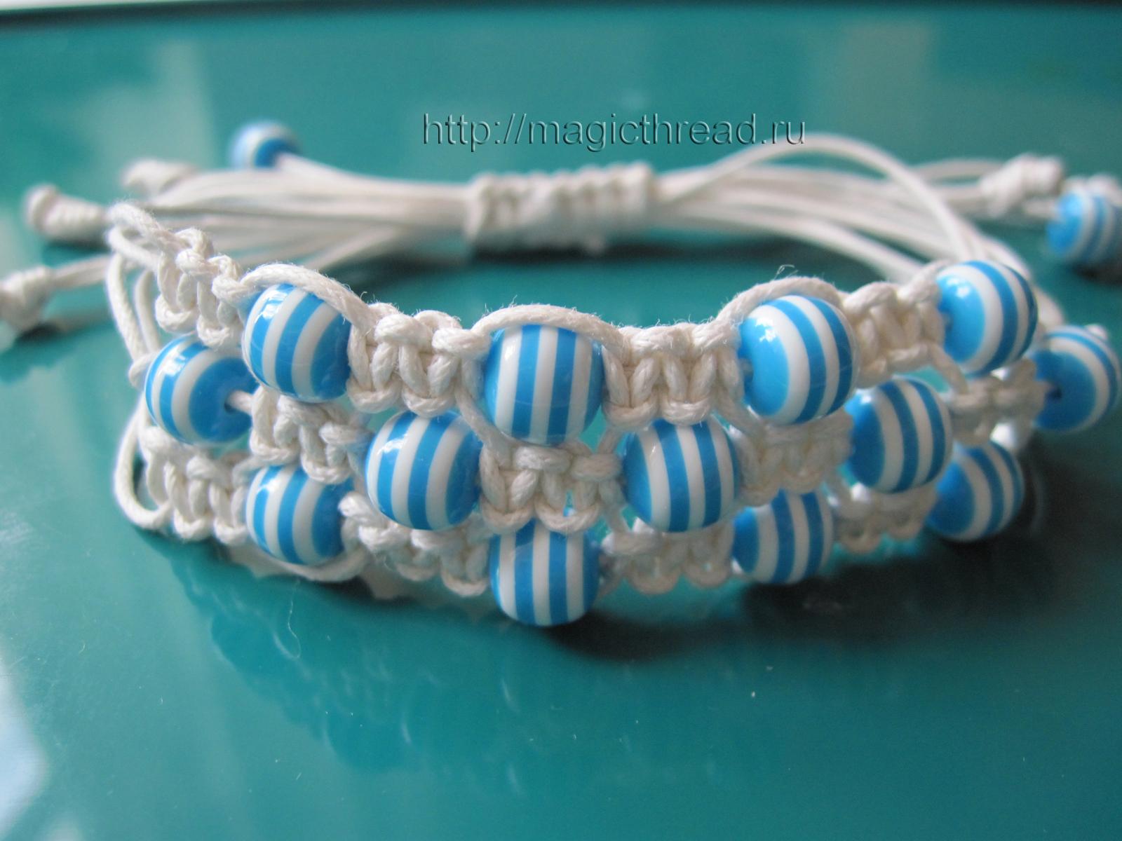 How to weave a bracelet Shambala Shambala Bracelet DIY 24