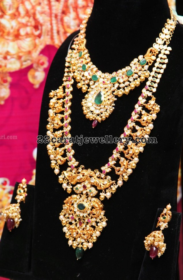 Emerald Pachi Necklace Ruby Long Set