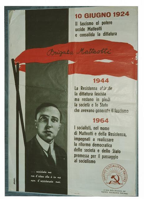 1924, 1944, 1964, Matteotti, brigate Mattetteotti, PSI