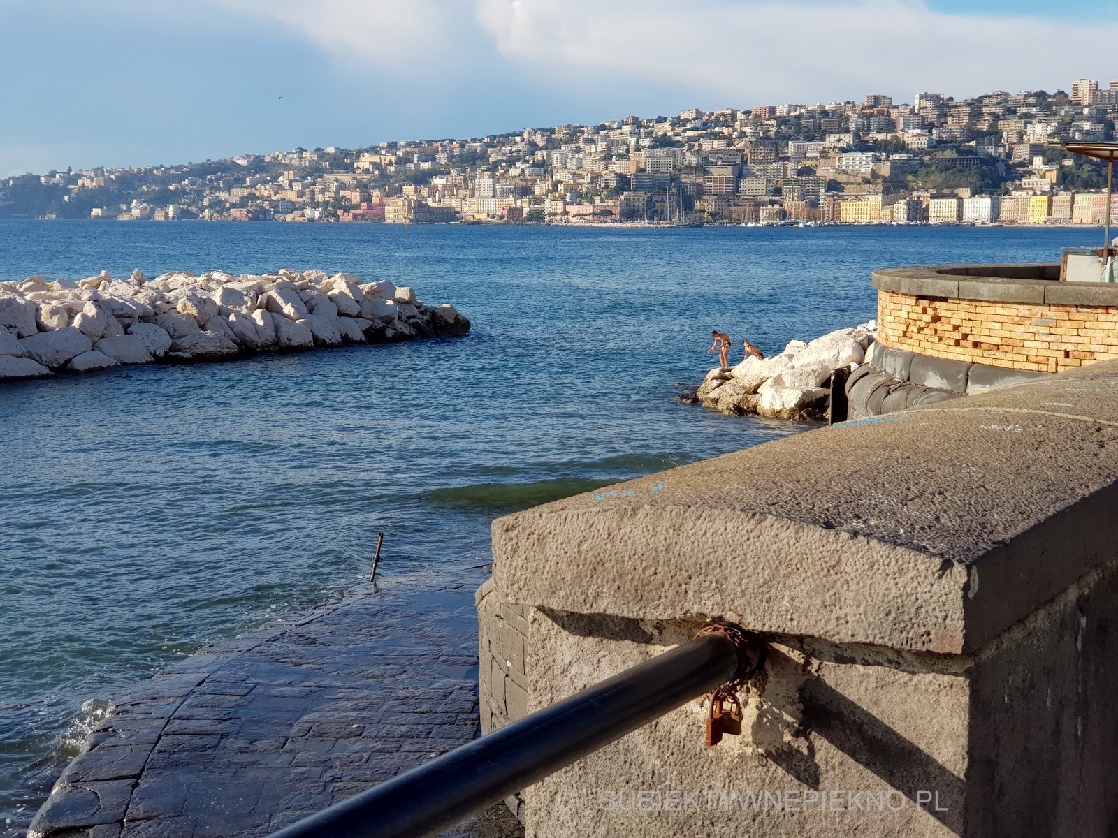 Promenada Neapol Włochy Santa Lucia