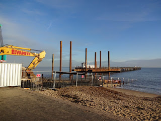 Building work on Felixstowe Pier