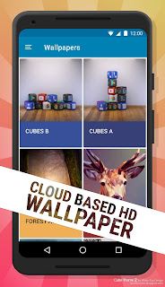 Cube Theme 2 Cloud based wallpaper