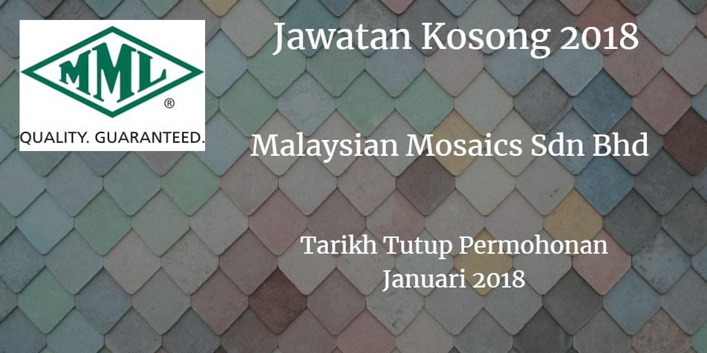 Jawatan Kosong MMSB Januari 2018