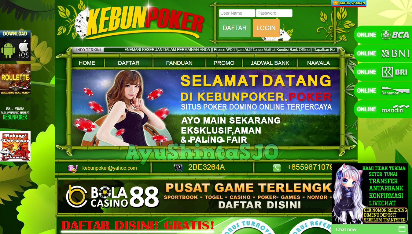 Kebunpoker Daftar Judi Online Terpecaya Indonesia