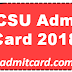 CCSU Admit Card 2018 - BA BCOM BSC Admit Cards Declared