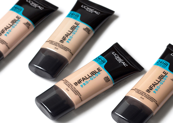 L'Oréal Paris Infallible Pro-Glow Foundation 201 202 203 204 205 Review Oily Skin Photos Swatches