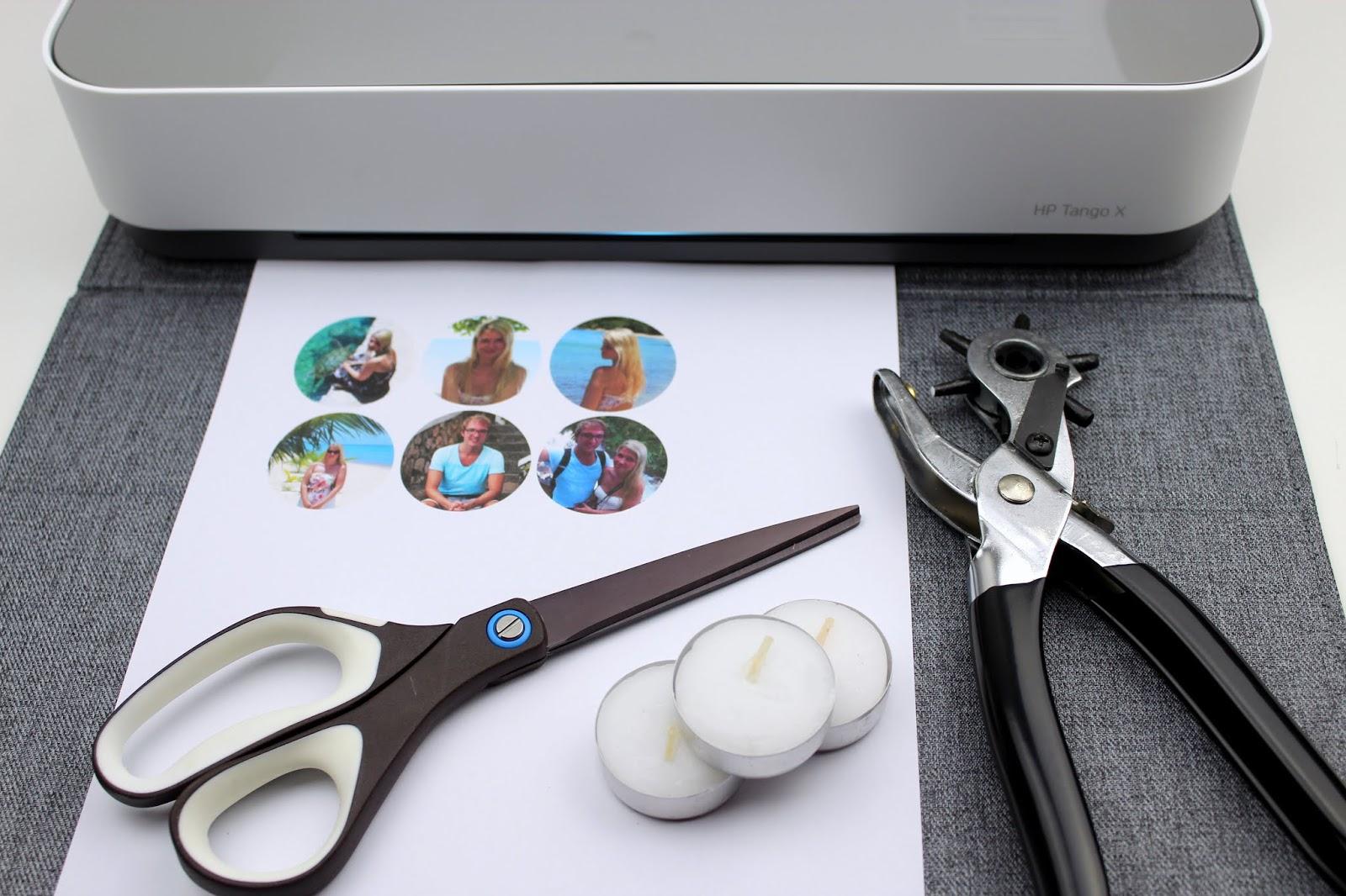 Teelichter mit versteckten Fotos - DIY: 5 wundervolle Fotogeschenke ganz schnell und einfach selber gemacht mit dem HP Tango X