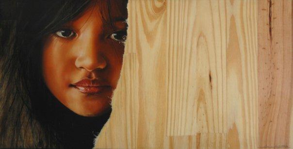 """Spanish Realist Painter- """"Immaculada Juarez"""" 1975"""