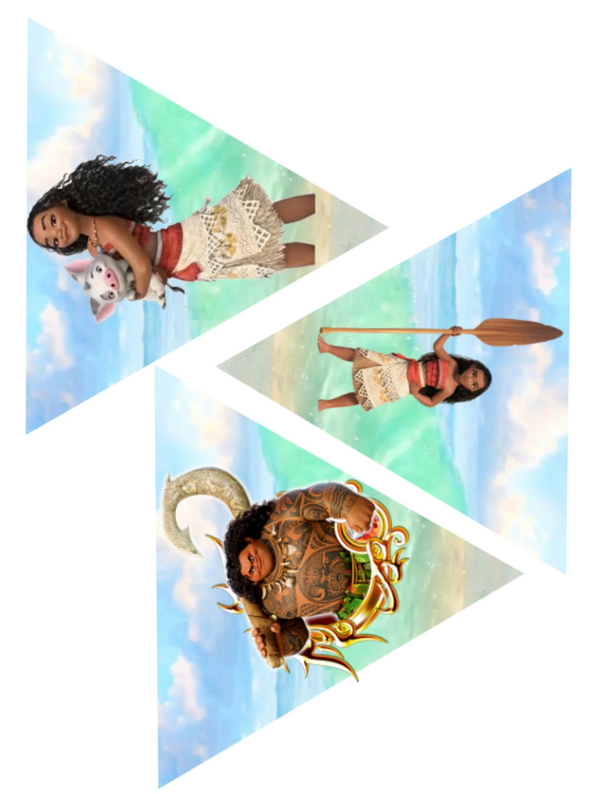 Musings of an average mom moana birthday banner for Moana template