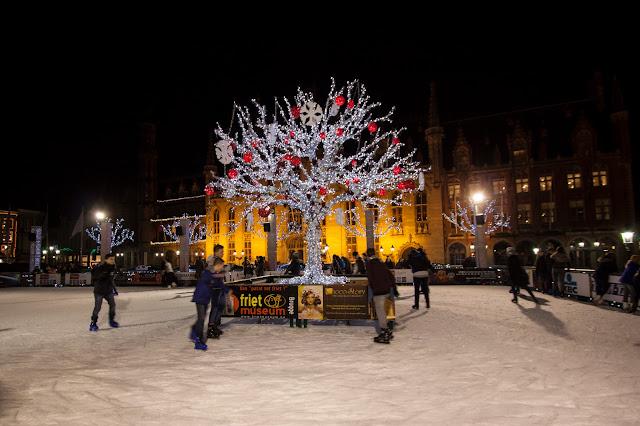 Pista di pattinaggio-Piazza del Markt-Bruges