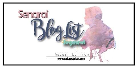 Senarai Blog List Segment August Edition by DA