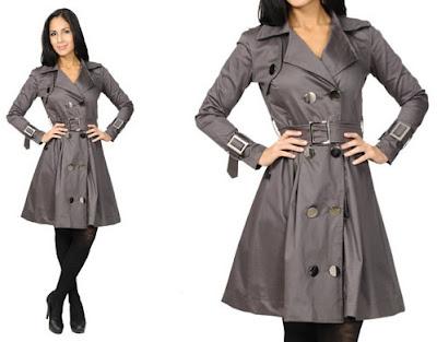 sobretudo feminino curto feminina mulher look inverno casaco lindo estiloso diferente estilo bonito moderno elegante moda acinturado cintura impermeavel cinza