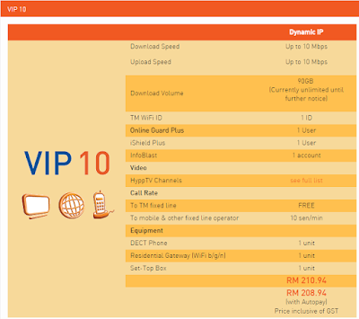 PAKEJ TM UNIFI VIP 10
