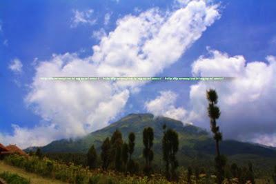 Gunung Sindoro dilihat dari Puncak Posong-Kledung