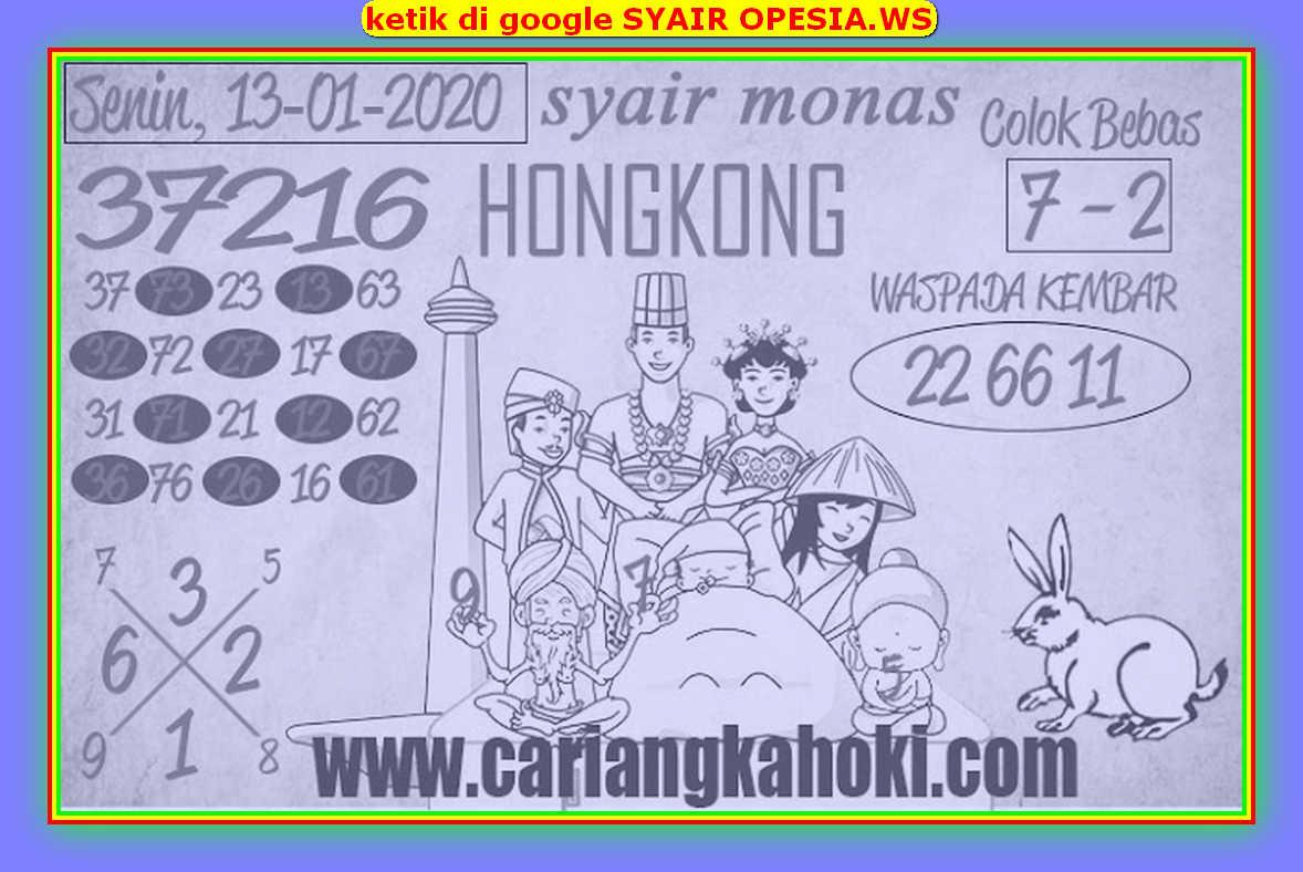Kode syair Hongkong Senin 13 Januari 2020 176