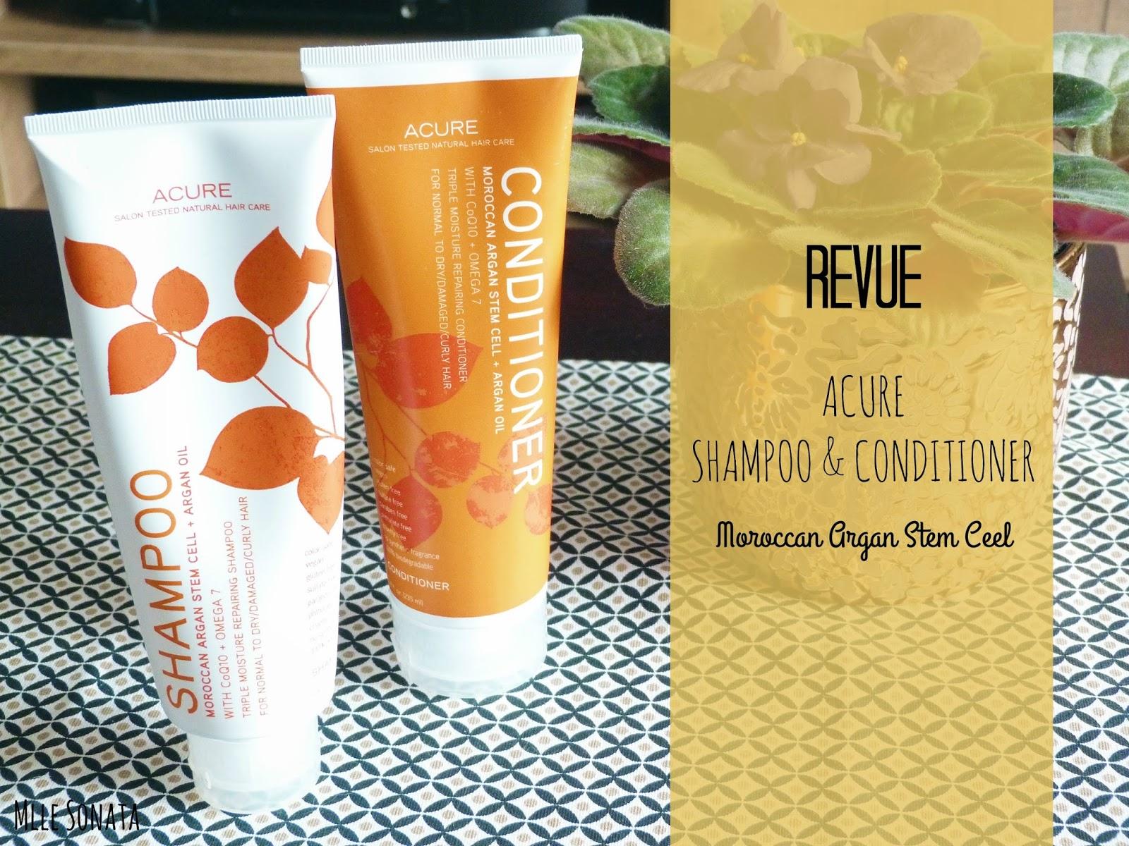 Revue Acure Organics : shampoing et après-shampoing à l'huile d'argan