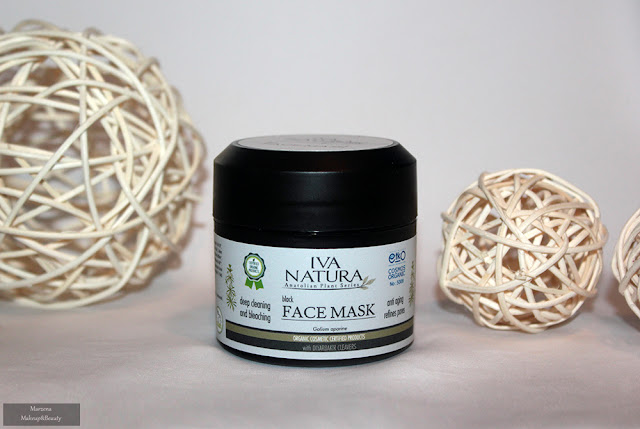 czarna maska Iva Natura - black face mask