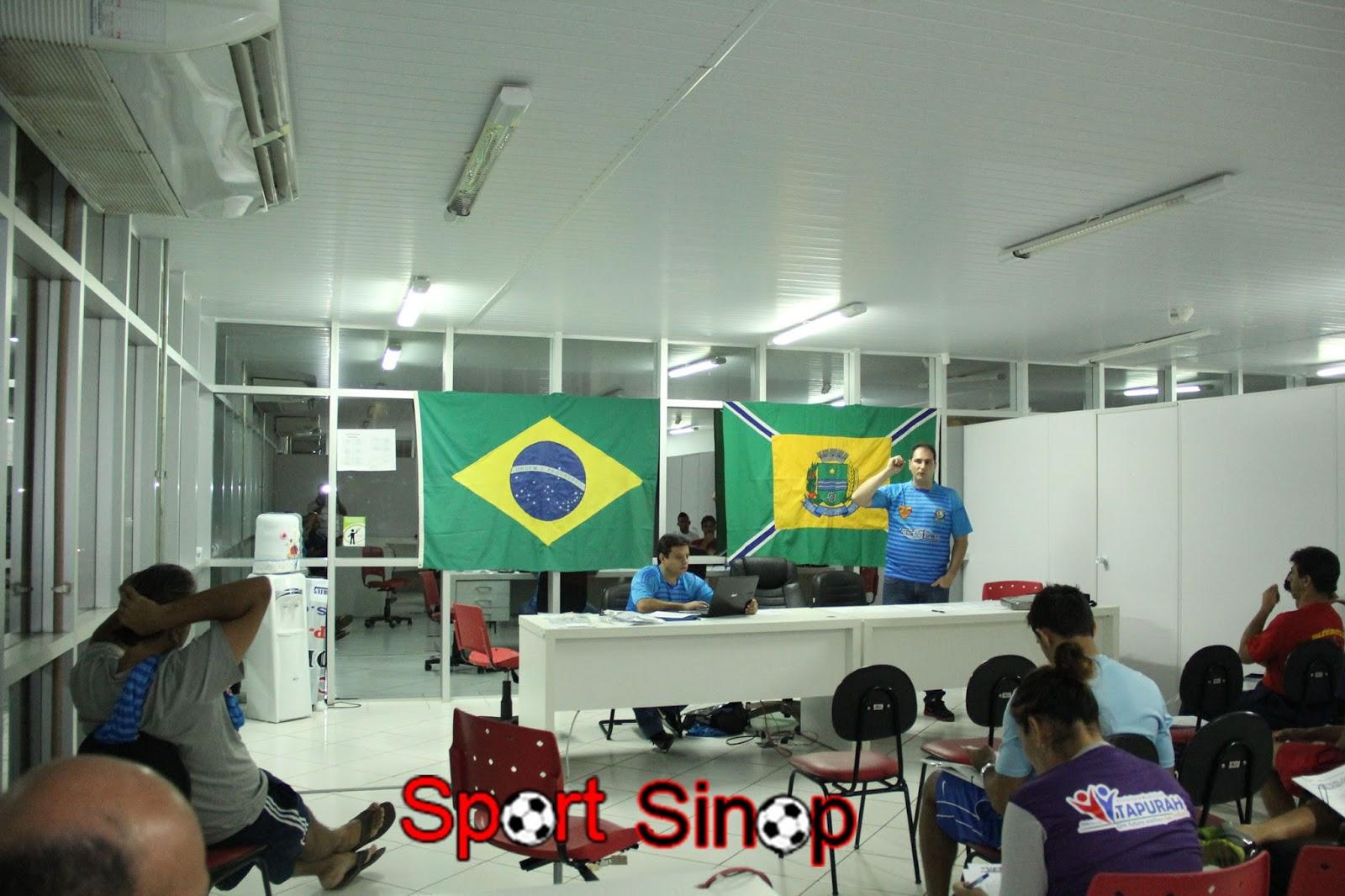 803e5317e Congresso Técnico da Super Copa Menor de Futebol em Sinop foi realizado  neste sábado à noite - Sport Sinop