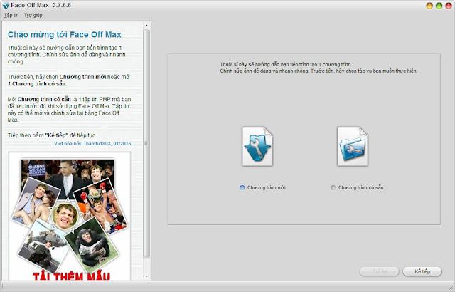 [Việt hoá] Face Off Max 3.7.6.6 - Phần mềm ghép ảnh độc đáo