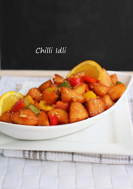 chilli idli spicy snack quick snack recipes easy breakfast recipes indian veg recipes