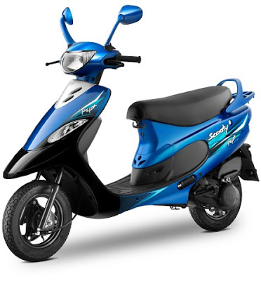 2016 TVS Scooty Pep Plus Hd Wallpaper blue color