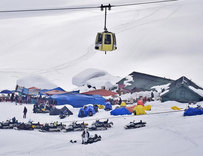 Xvlor Gulmarg is ski resort and the world's highest golf course in India