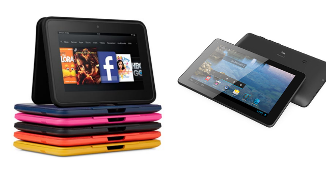 Kindle Fire HD 7 VS Bq Maxwell 2 Plus