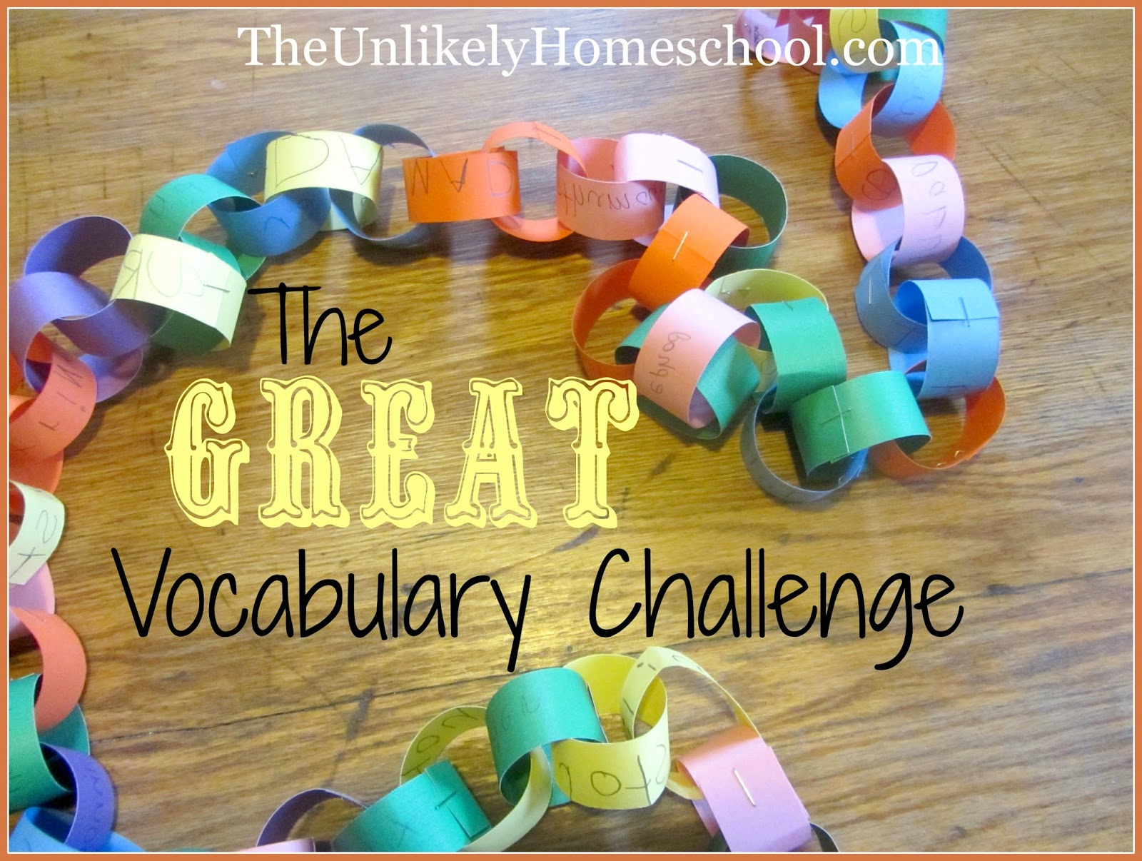 The GREAT Vocabulary Challenge {Learning Vocabulary Authentically}