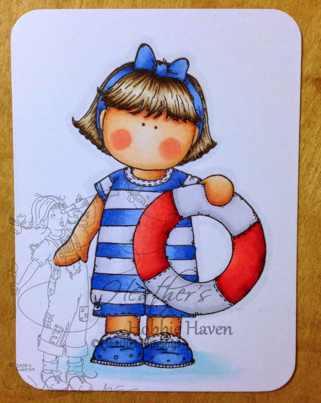 Heather's Hobbie Haven - Colored Project Life Card