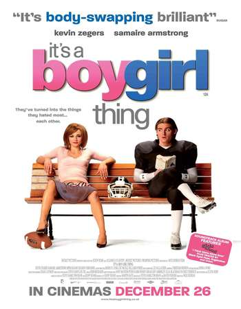 Poster Of It's a Boy Girl Thing 2006 Dual Audio 720p HDTVRip [Hindi - English] ESubs Free Download Watch Online Worldfree4u