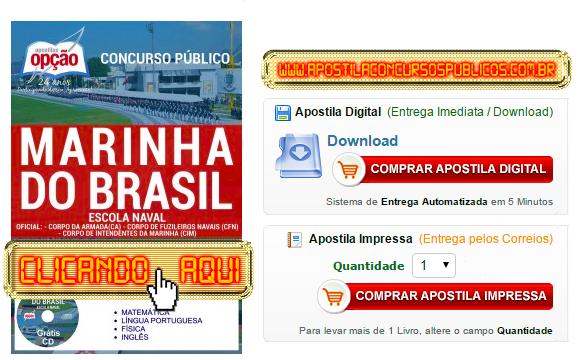 Apostila Concurso Marinha do Brasil 2017 Aspirante da Escola Naval PDF Impressa