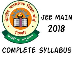 JEE Main 2018 Syllabus