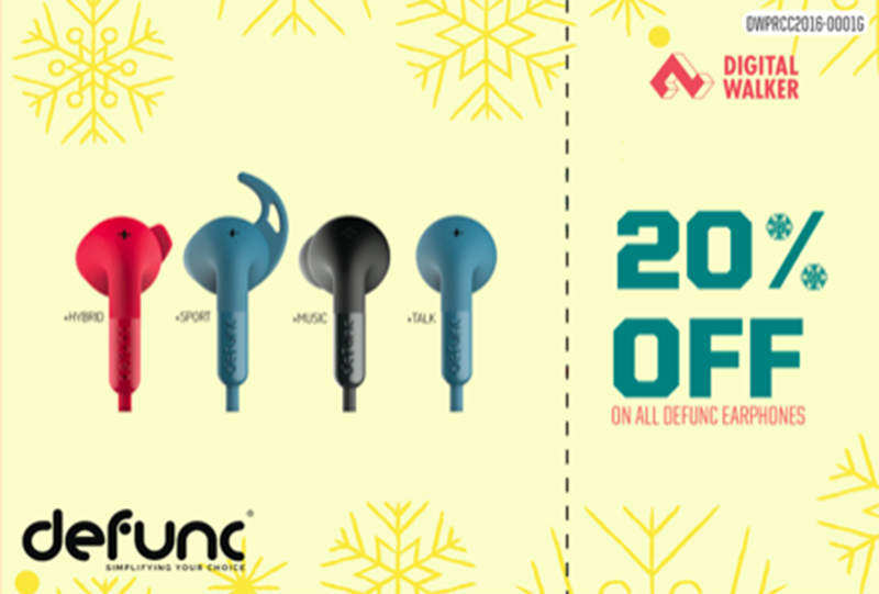 20% off for Defunc earphones!
