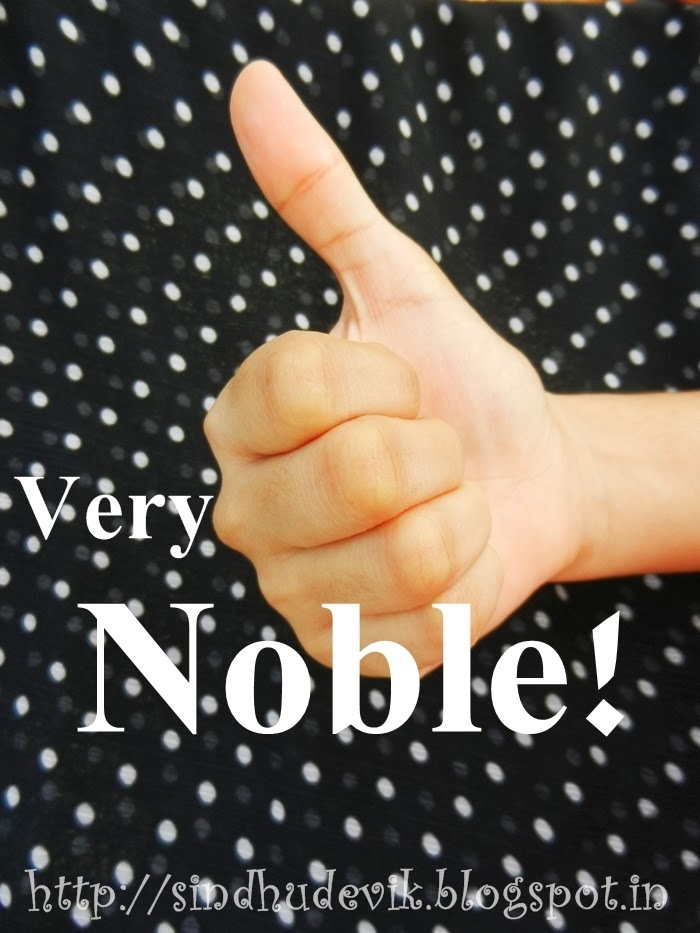 Handsign showing thumbs up for conveying 'very noble character'