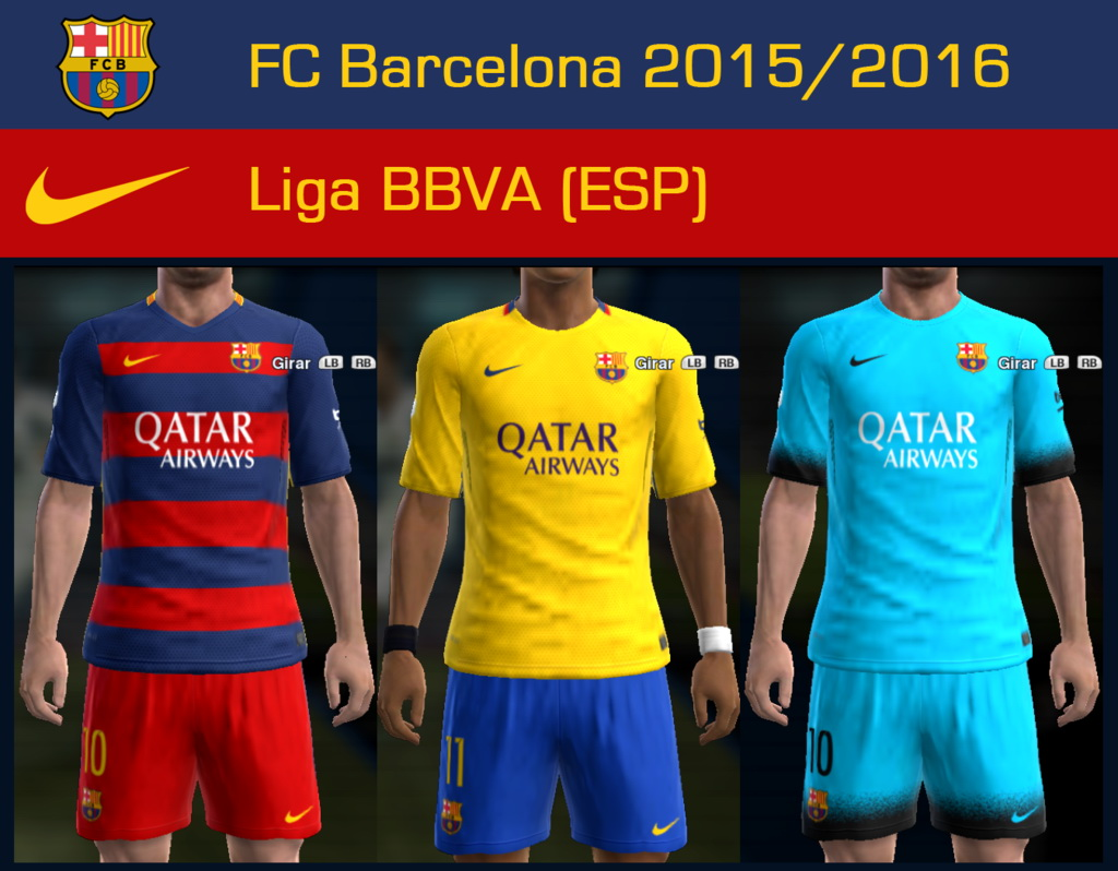 Update Kits Uniformes Leones Fc: Pes-modif: PES 2013 FC Barcelona 2015/2016 GDB Update 3 By
