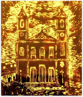 Maria Di Gesu - Igreja Nossa Senhora do Rosário, Rio Pardo (1980) - Xilogravura