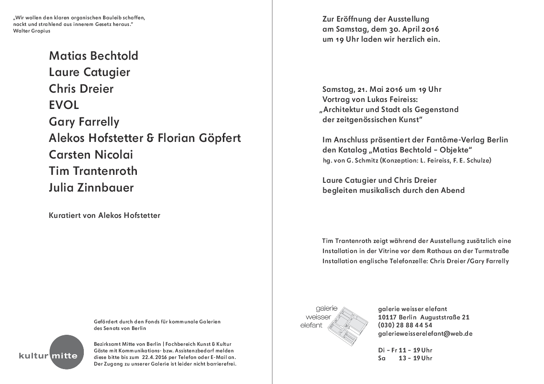 SCISSORELLA: NEUE HEIMAT in der galerie weißer elefant in Berlin