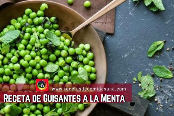 Receta de Guisantes a la Menta de www.recetasdecomidasana.com