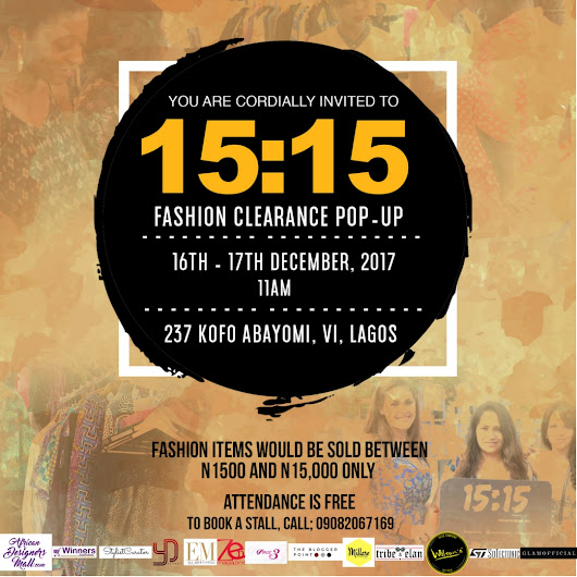 MILLARE Fashion: AD | FASHION CLEARANCE SALE! GET FASHION ITEMS FOR AS LOW AS N1,500 AT ADM 15:15 POP-UP SALES | DEC. 16TH & 17TH