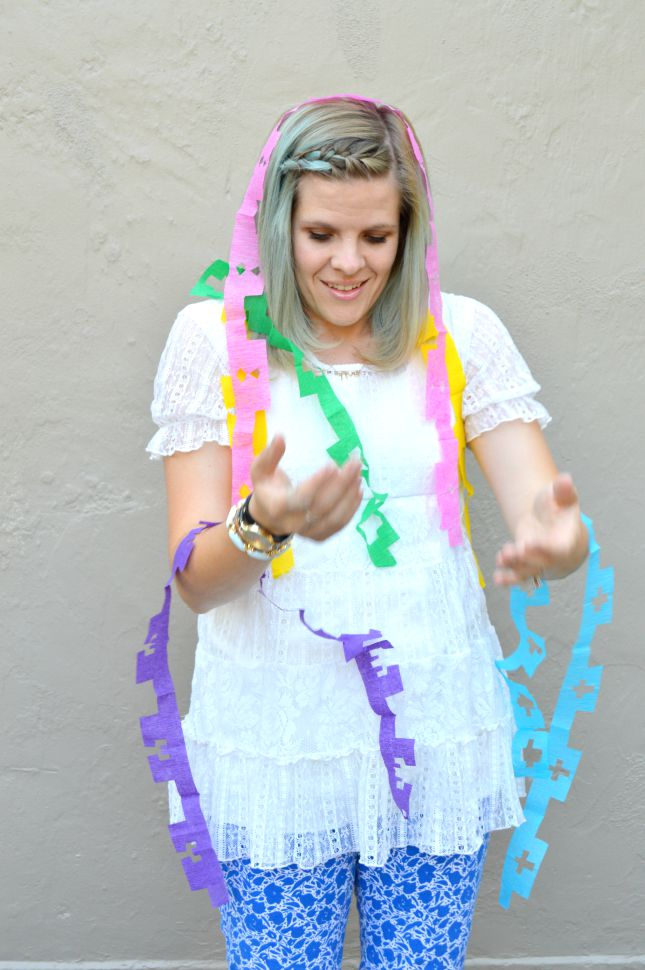 Cactus Party Supplies: DIY Papel Picado Cactus Banner by lifestyle blogger Michelle of Mumsy