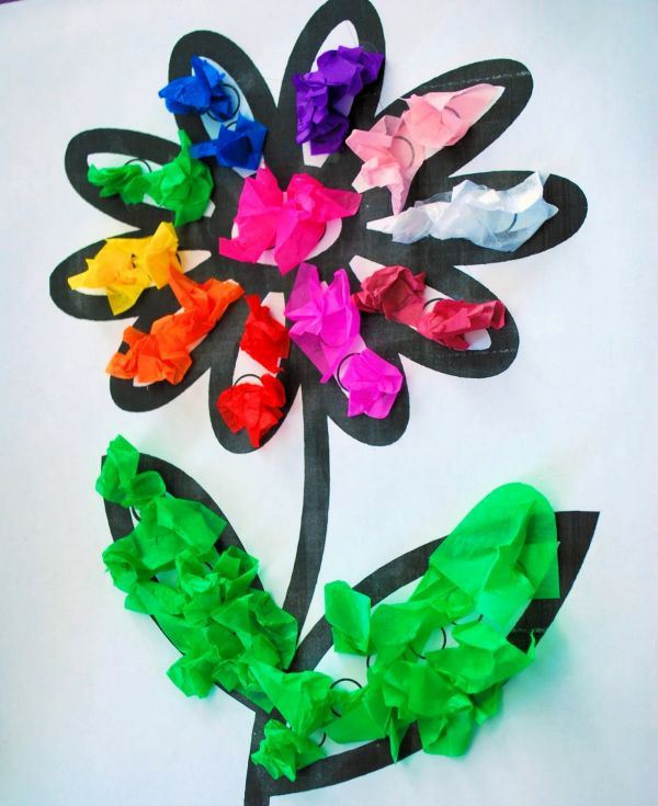 tissue paper art for kids Take a look at these creative tissue paper crafts for kids from birthday number to decorated tissue paper flower art for kids, source.
