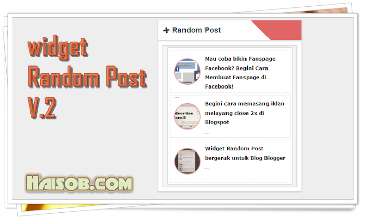 Widget Random Post bergerak V.2 Blog Blogger Blogspot