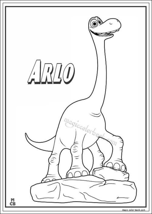Ausmalbilder von Good Dinosaur zum Drucken