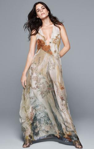 H&M Conscious Exclusive 2016 vestido largo de tejido sostenible