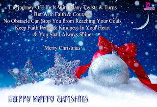 Kartu Ucapan Natal Merry Christmas 8002