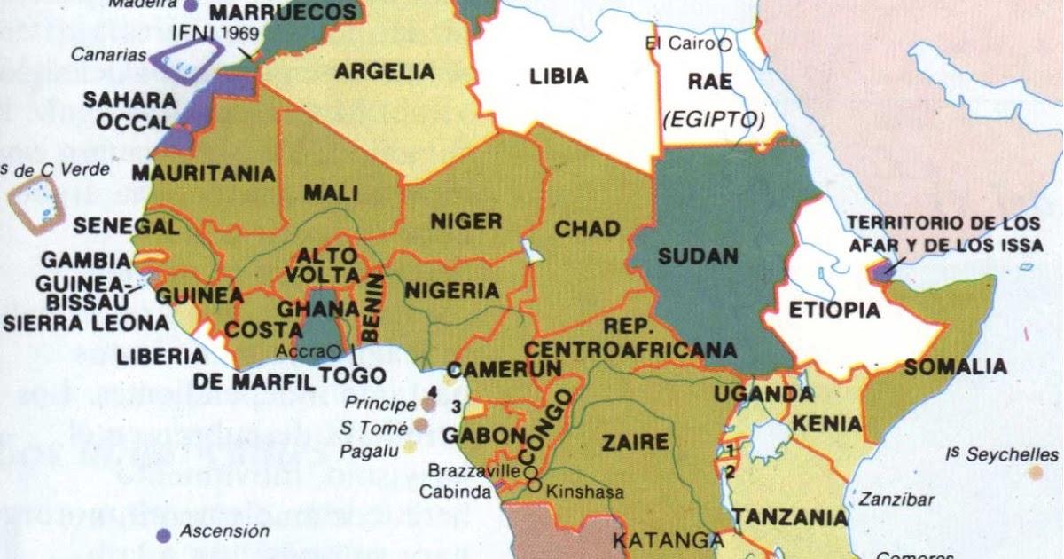 Africa Localización Geográfica Países Mundo Geografía
