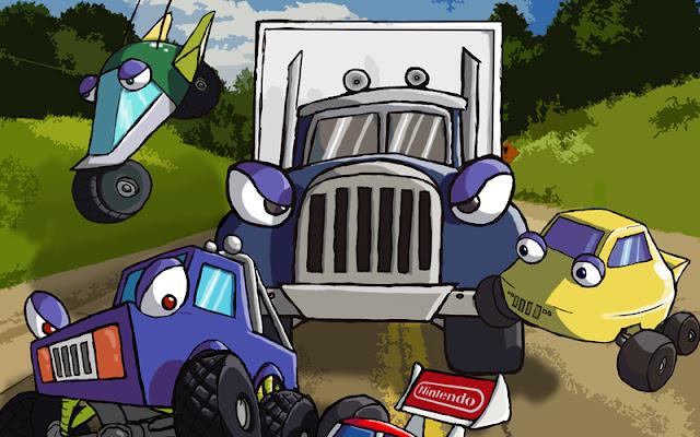 Stunt race FX, videojuego, videojuegos, juego retro, retro, 3D, Nintendo, Super Nintendo, Super FX, Wii, Japón, Argonaut, Consola virtual, juego de coches, descargar Stunt race Fx, snes, rom, ebay