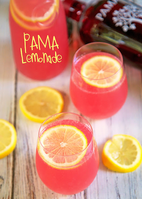 "PAMA Lemonade Recipe - our ""Signature Summer Cocktail""! Lemonade, vodka and PAMA liquor. So refreshing! Great for summer entertaining. Can make ahead of time and refrigerate until ready to serve."