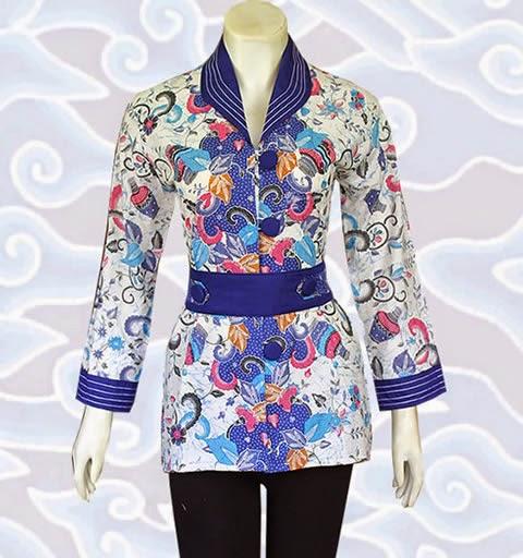 Model Baju Blus Batik Atasan Wanita Terbaru